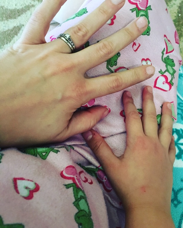Mommy & Ali hands